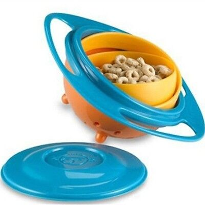 Multifunction Kids Universal 360 Degree Rotate Spill-Proof Gyro Bowl Dishes Toys