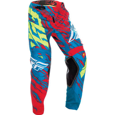 Fly Racing 2017 Mx Gear NEW Kinetic Relapse Teal Red Dirt Bike Motocross Pants