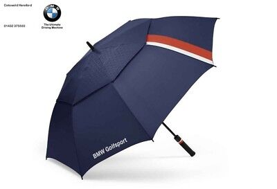 Genuine BMW Golfsport Umbrella Golf Twin Canopy Wind Teflon 80232446379