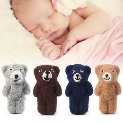 Newborn Photography Accessories Felt Knit Teddy Bear Infant Handmade Toy Props