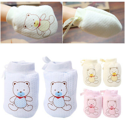 Lovely Baby Infant Boys Girls Anti Scratch Mittens Soft Newborn Gloves Gifts 2PC