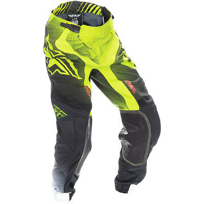 Fly Racing 2017 Mx Gear NEW Lite Hydrogen Hi-Vis Lime Black BMX Motocross Pants