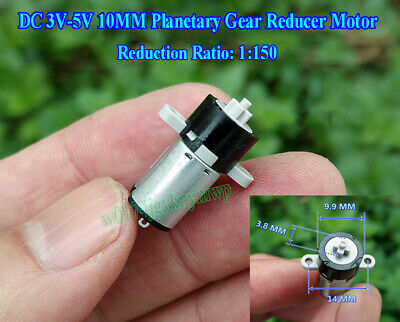 DC 3V-5V 10MM Planetary Gear Reducer Motor Coreless Motor For DIY Robot 1:150
