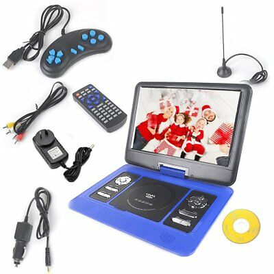 """13.3"""" Portable DVD Player Swivel Flip Screen In Car Charge Free Game CD Remoter"""