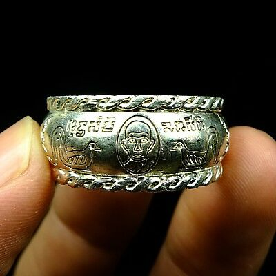 Rare Old Ring Lp  Ruay Wat Tako Thai Buddha Amulet Luck Rich Charm 1