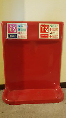 Double Fire Extinguisher Stand (Chubb) CO2/Hydraspray