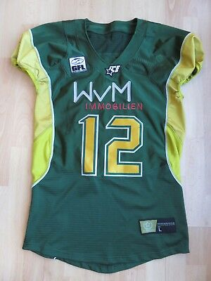 *cologne Crocodiles* American Football Köln Original Gfl Game Jersey Trikot Grün