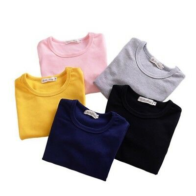 0-4Y Toddler Baby Girls Clothes Long Sleeve Casual Cotton Tops T-Shirt Blouse
