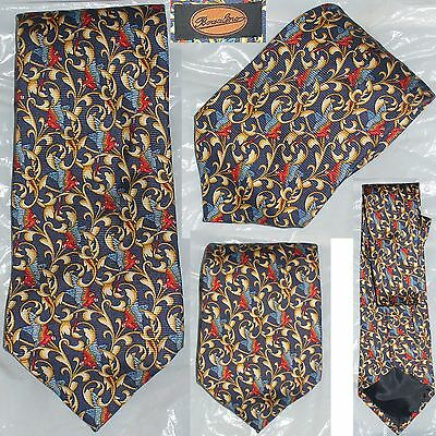 BORSALINO Vintage 80/90s Cravatta Multicolor Tie Made in Italy 100% Seta