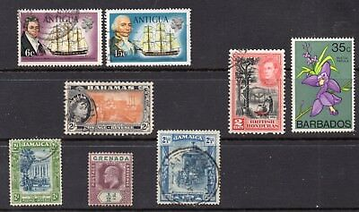 Caribbean: A Nice Mixture of 8-Mint & Used Issues With Good CV (Reduced Post)