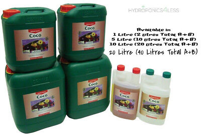 Canna Coco A B 1,5,10,20 Litre Veg Flower Plant Food Base Nutrients Hydroponics