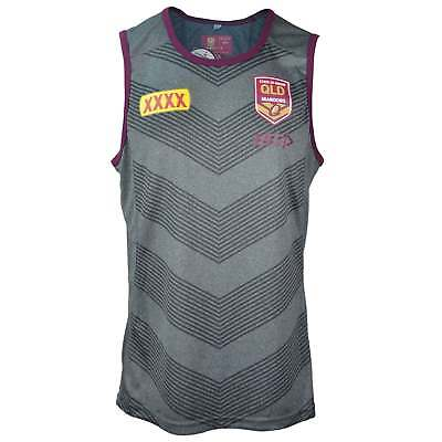 ISC Queensland State of Origin 2018 Training Singlet - Grey and Maroon