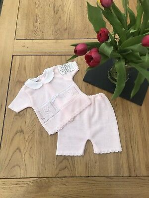 Spanish Style Baby Girl Knitted Outfit - 12 months