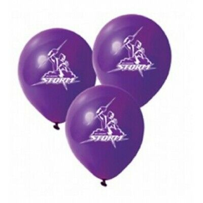 Melbourne Storm Official NRL x 6 Balloons Double Sided FREE POST