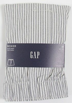 NIP Mens GAP Boxers 100% Cotton Elastic Waist Stripe - 804045