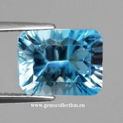 Aaa Natural Topaz - Topazio Naturale Ct 4.41 Octagon Cut Stunning Origin Brazil