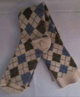 Vintage Soft Acrylic School Girl Argyle Knee Socks Excellent  Condition Women's