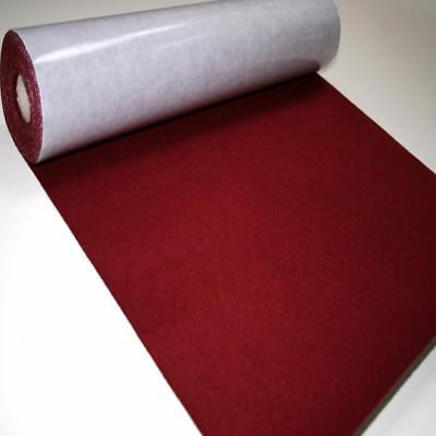 BS EN 71 WINE Sticky Self Adhesive Felt Baize Fabric Mini 5m Rolls UK MADE