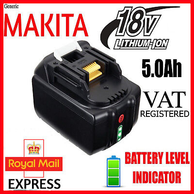 for MAKITA BL1850 18V 5.0Ah Li-Ion Battery with charge Indicator 1YEAR WARRANTY