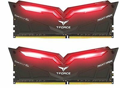 Team T-Force Night Hawk Red 16GB 2x8GB DDR4 3200MHz Memory THRD416G3200HC16CDC01