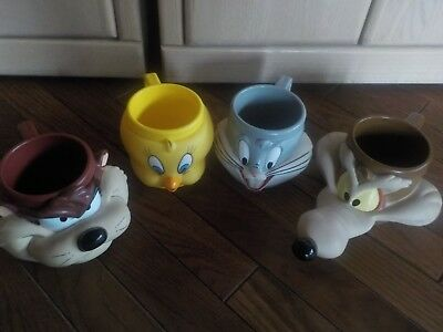Your Choice- Collectible 1992 Looney Tunes Time Warner Bros  Mug/Cup Plastic