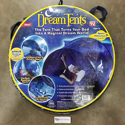 Dream Tents - Space Adventure - Twin Size Pop Up Tent - As Seen On TV Ages 3+