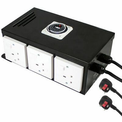 6 Way Professional Contactor Relay Timer For Grow Light UK Hydroponics