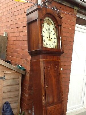 Moon phase lancashire ..Grandfather Clock 8 Day .NOW £425 as iv craked the glass