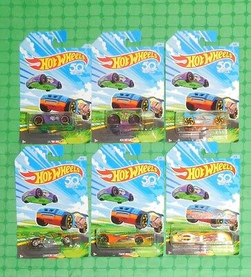 2018 Hot Wheels - 50th Anniversary - Easter / Spring Complete Set of 6 - Walmart