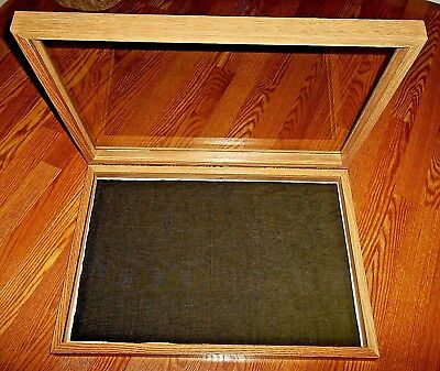 Wood-Like Display Case 25 x 17 x 3 For Arrowheads Knives Collectibles Coins NICE