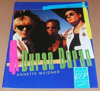 DURAN DURAN VIP RARE German Softcover Book From 1993 With Poster GIFT IDEA