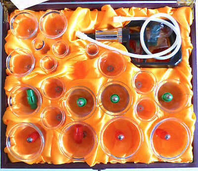 Luxury Cupping Kit Acupuncture Therapy Wooden Case Pain Treatment Cure Hijama 24