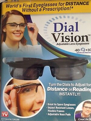 Adjustable Glasses Spectacles Dial Vision Distance Or Reading Unisex Uk Dispatch