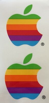 Apple Stickers Multi-Color Vintage - Set of Two