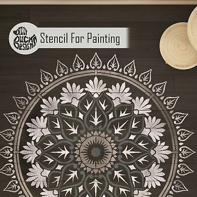 Varanasi Mandala Wall Furniture Floor Stencil for Painting