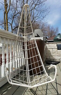 60u0027s Vintage Homecrest MCM Mid Century Modern Mod Hanging Wire Patio Chair  Swing