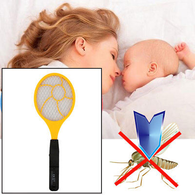 Bug Zappers LED Electric Tennis Racket Anti Mosquitoes Zapper Red Blue Handheld