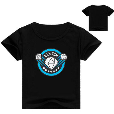 Dan TDM The Diamond Minecraft Youth Adult  T-Shirt Size 14 - L AU Shop