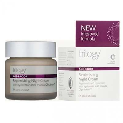Trilogy Age-Proof Replenishing Night Cream 60ml - NEW & BOXED - FREE P&P - UK