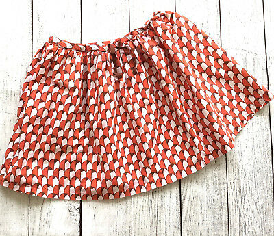 Mini Boden Girls Skirt Pull On Elastic Waist Geometric Print Size 9-10Y