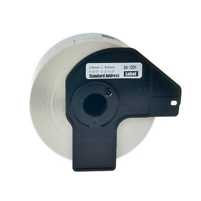 1 Roll DK-1201 29mm White Address Labels For Brother QL-1060N QL-720NW w/1 Frame