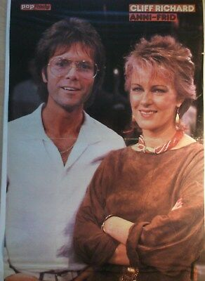1 german poster ANNI FRID LYNGSTAD ABBA CLIFF RICHARD N. SHIRTLESS BOYS BOY BAND