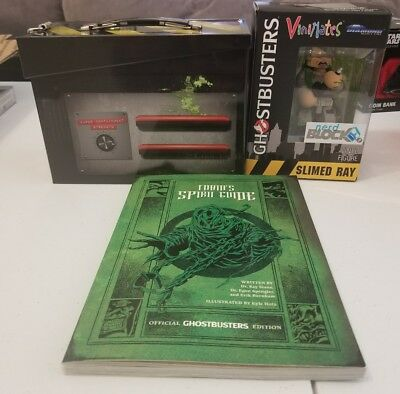 Ghostbusters Tin Box Trap Nerd Block with slimed ray and Spirit guide book