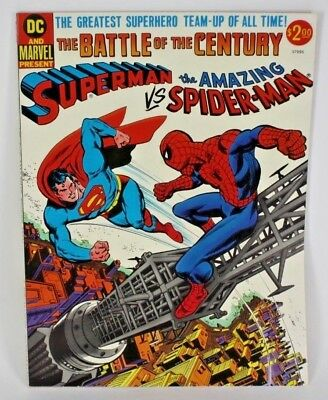 Dc Marvel Superman Vs. Amazing Spiderman Comic Book Battle Of The Century Ex-Nm