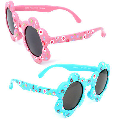 Flower Pot Sunglasses Kids Shades Childrens Toddlers Girls 100% UV400 Protect