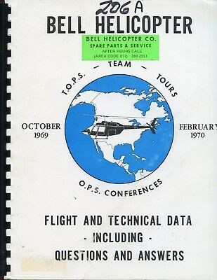 Bell Helicopter Model 206A Flight And Technical Data