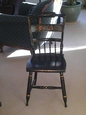 L Hitchcock Style Black Stenciled Colonial Chair - Local Pick-Up Only