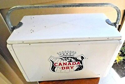 ULTRA RARE Vintage CANADA DRY CRONSTROMS COOLER Advertising