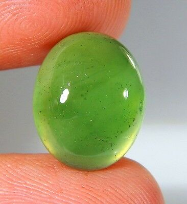 05 Ct Natural Ring Size Deep Green Serpentine  Jade Oval Cabochon  Gemstone A183