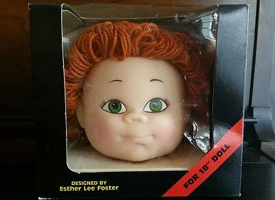 "1985 Esther Lee Foster Children Auburn Curly Doll Head 18"" Dolls Designer COA"